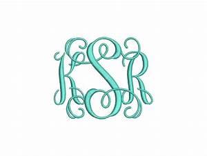 vine 3 letter monogram font machine embroidery monogram With letter it embroidery software free trial
