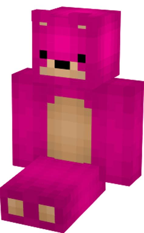 pink teddy bear minecraft skin
