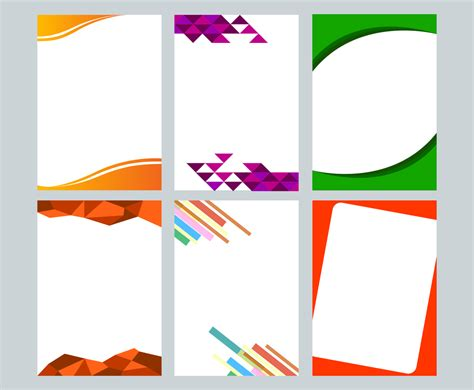 modern letterhead vector vector art graphics