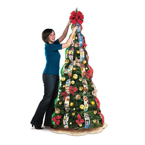 pull up christmas tree with lights ultimate disney 6 1 2 39 pre lit pull up christmas tree