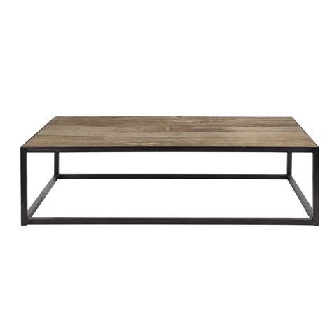 metal and wood coffee table w 130cm aspen maisons du monde