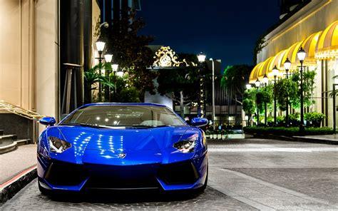 Hd Wallpaper Blue Car by Lamborghini Car Lamborghini Aventador Blue Cars A4