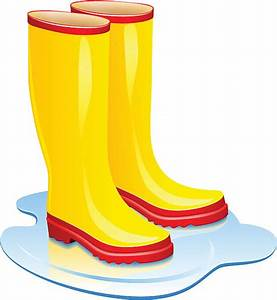 Boots clipart wet - Pencil and in color boots clipart wet
