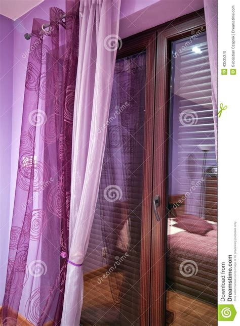 violet bedroom stock photo image 43535370
