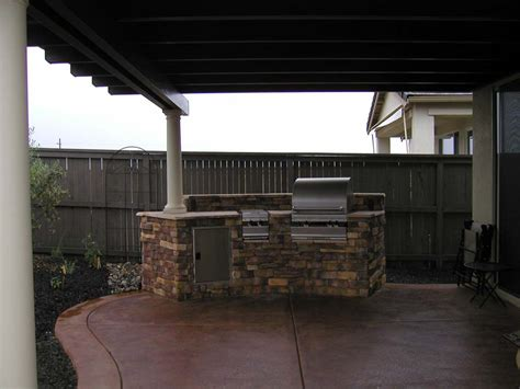 bbq island solid roof patio cover landscapes by