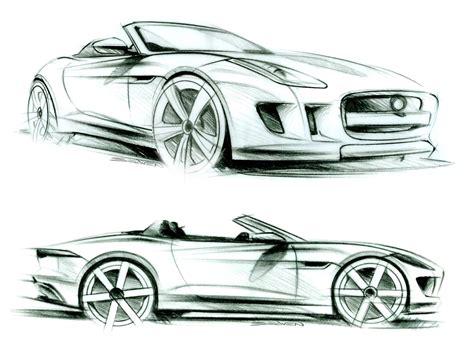 design automobile jaguar f type design sketches car design