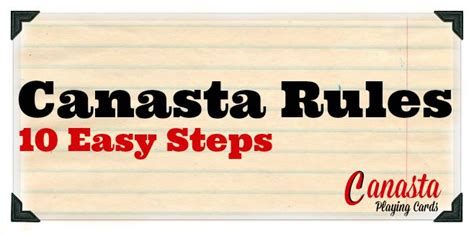 Canasta Rules  10 Easy Steps
