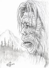 Sasquatch Coloring Yeti Bigfoot Foot Pages Drawing Colouring Sheets Adult Creature Pencil Dsg Fire Books Mario Sketchite Cryptozoology Idle sketch template