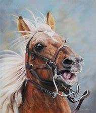 Pastel Horse Paintings