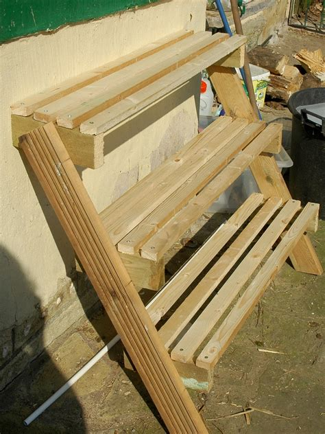 tiered plant stand   scrap wood   good life
