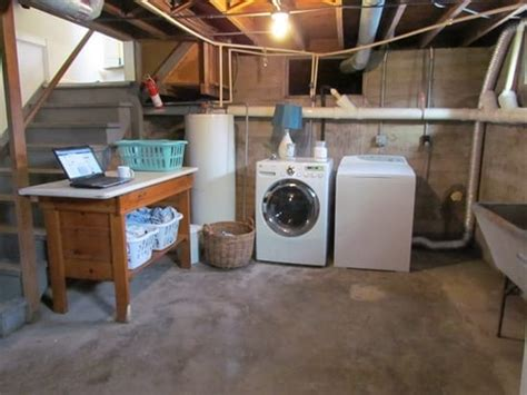 basement laundry room ideas basement laundry room clean up white house black shutters Unfinished