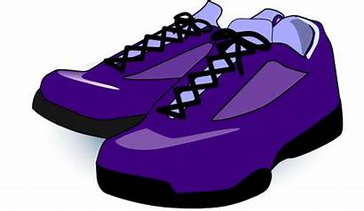 Shoes Cartoon Clipart Purple Clip Cliparts Vector