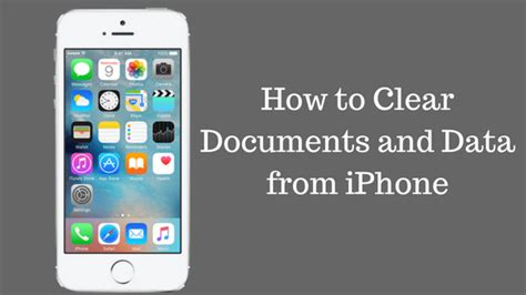 iphone clear documents and data how to clear quot documents and data quot from iphone free up