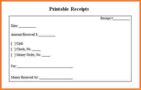 9 blank receipt restaurant receipt