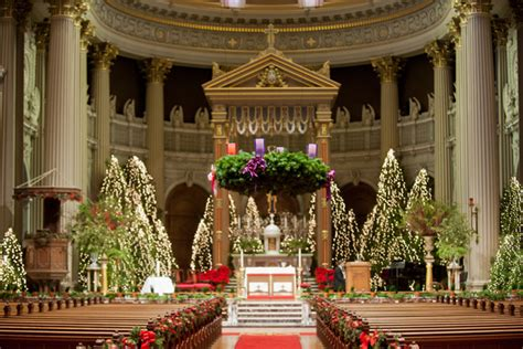 christmas cathedral alter check out christmas cathedral