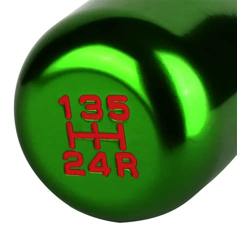 10x1 5 shift knob universal 10x1 5 aluminum manual 5 speed shift knob green
