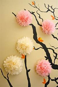 Mini tissue paper pom poms wall decoration nursery