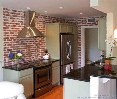 Brick Backsplash In A Kitchen  Kitchentoday