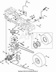 Troy Bilt 13wm77ks011 Pony  2014  Parts Diagram For Transmission Drive Assembly