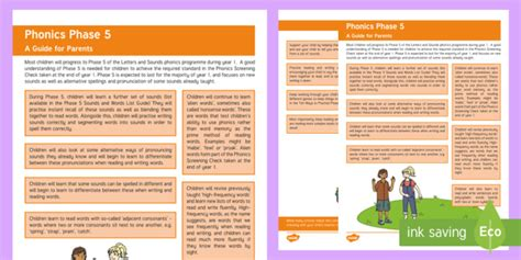 * New * Phase 5 Phonics Guide For Parents  Letters And Sounds, Reading