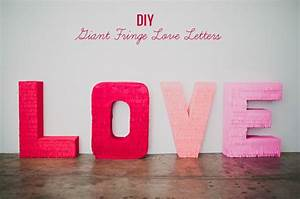 diy giant fringe love letters green wedding shoes With diy giant letters