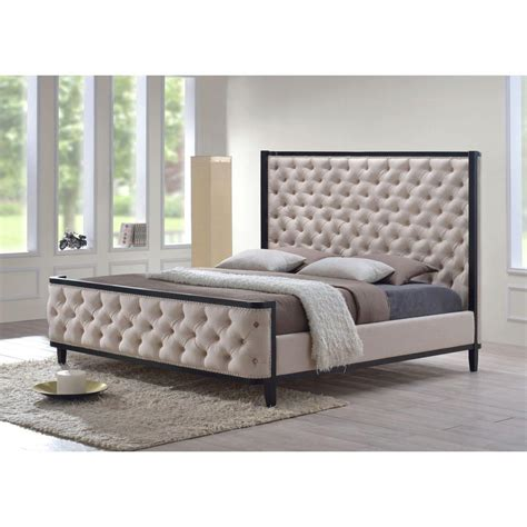 padded headboard size bed pict luxeo kensington khaki king upholstered bed k6437 cus