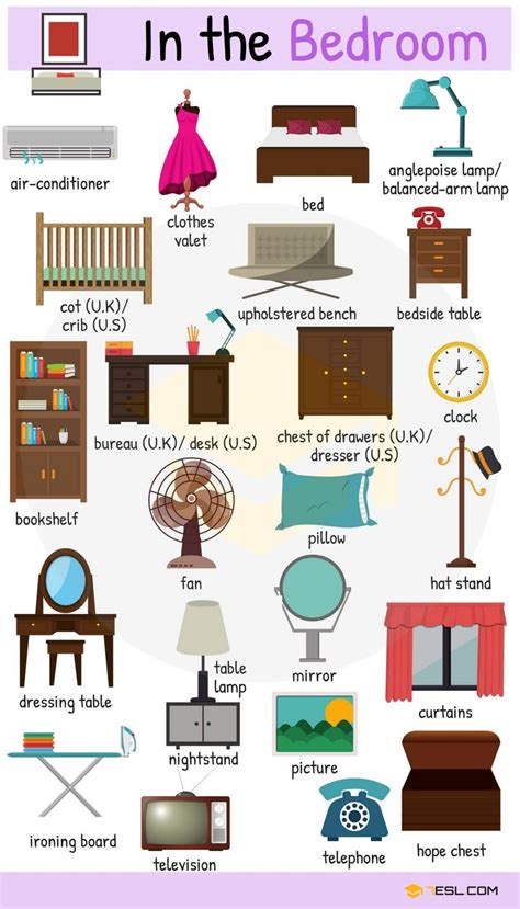 types  furniture  furniture names  pictures