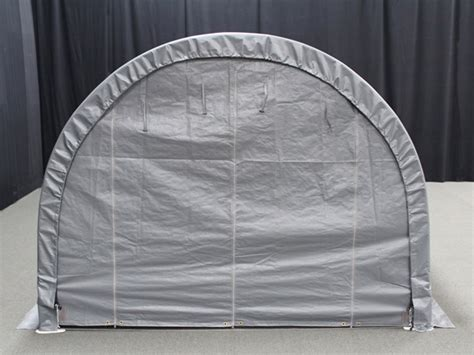 king canopy enclosed  foot   foot domed garage canopy