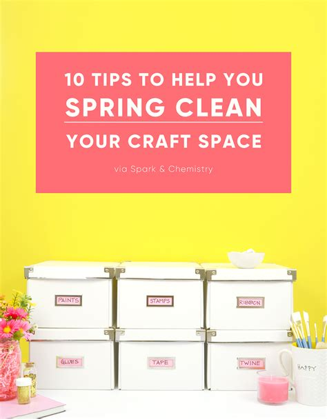 10 Tips To Spring Clean Your Craft Room  Spark And
