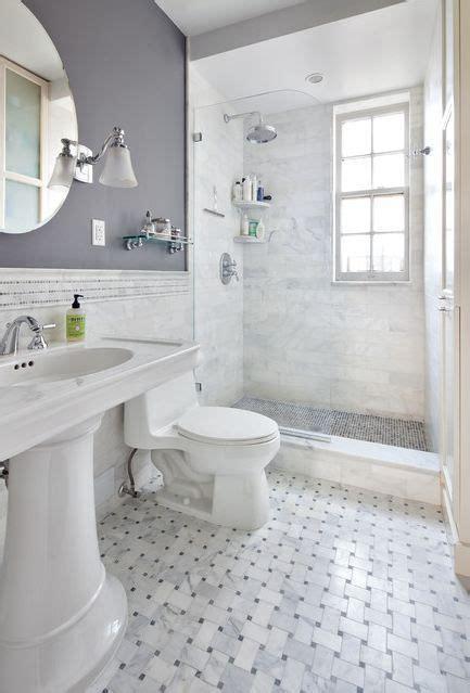 marbled tile glass door showe gray bathroom i like the