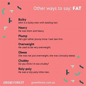 Synonyms to the word FAT. Other ways to say FAT. Синонимы ...