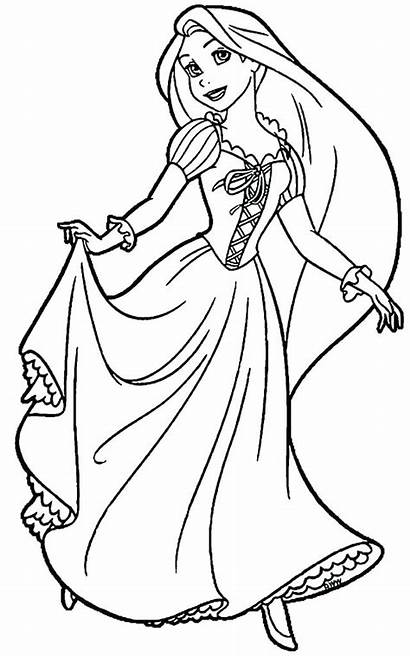 Rapunzel Coloring Pages Tangled Printable Colouring Getdrawings