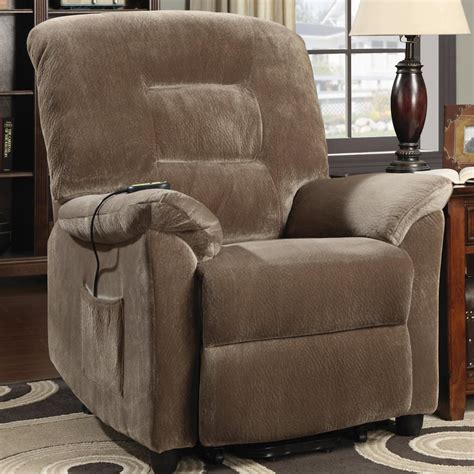 Fabric Reclining Chairs by Brown Fabric Power Reclining Chair A Sofa