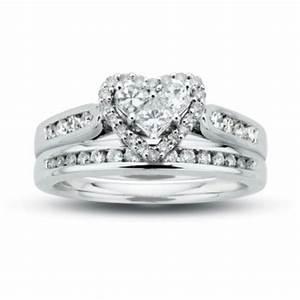 10k heart shaped wedding set rings pinterest With heart shaped wedding rings bridal set