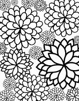 Coloring Flower Pages Printable Flowers Colouring Sheets Sheet Cute Print Floral Pattern Adult Adults Flowering Pretty sketch template