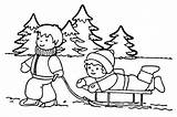 Coloring Pages Winter Snow Play Children Cold Tuesday Event Let sketch template