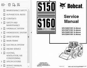 Bobcat S150 S160 Service Manual Pdf Download