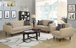 stansall ivory living room set from coaster 505204 With glory furniture living room collection