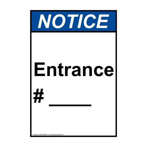 how to write a formal letter portrait ansi entrance sign anep 29845 29845