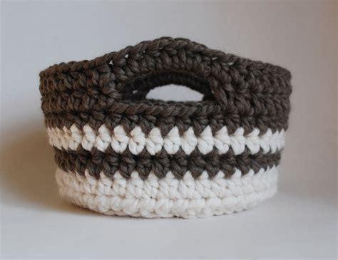 crochet basket week 10 chunky crocheted basket a handmade year
