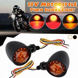 New 12v Universal Motorcycle Bullet Turn Signal Indicator