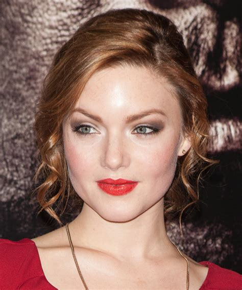 holliday grainger formal medium curly updo hairstyle