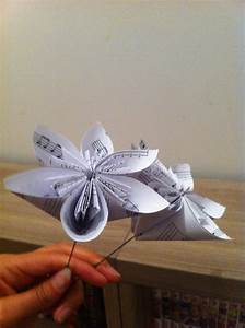 Faire Des Photocopies : des fleurs en papier r alis es avec des partitions de musiques pour mon mariage mademoiselle ~ Maxctalentgroup.com Avis de Voitures