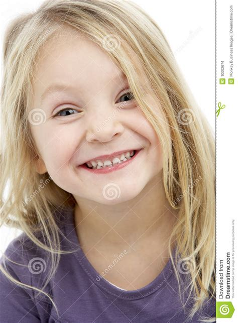 Portrait Of Smiling 4 Year Old Girl Stock Photo - Image of ...
