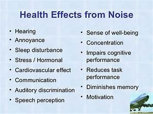 Image Gallery health effects from noise