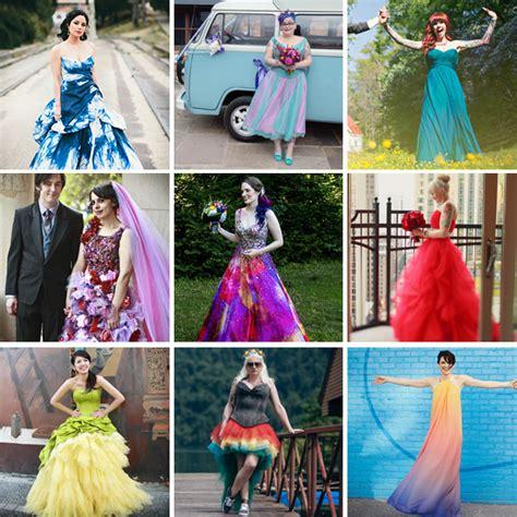 60 Astonishing Coloured Wedding Dresses · Rock n Roll Bride