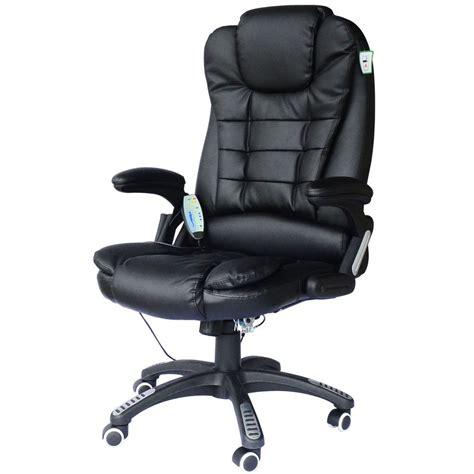 fauteuil de bureau en cuir fauteuil de bureau cuir noir massant et chauffant bc elec com