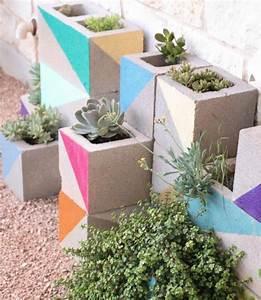 Jardiniere Beton Cellulaire : jardini re en b ton diy en parpaings pour les plantes grasses ~ Melissatoandfro.com Idées de Décoration