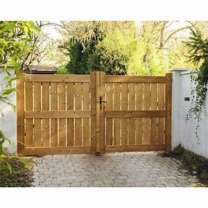 portail battant bois ajoure mulhouse essence epicea lmc With bois pour portail exterieur