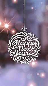 Happy New Year Typography Globe iPhone 6 Wallpaper ...